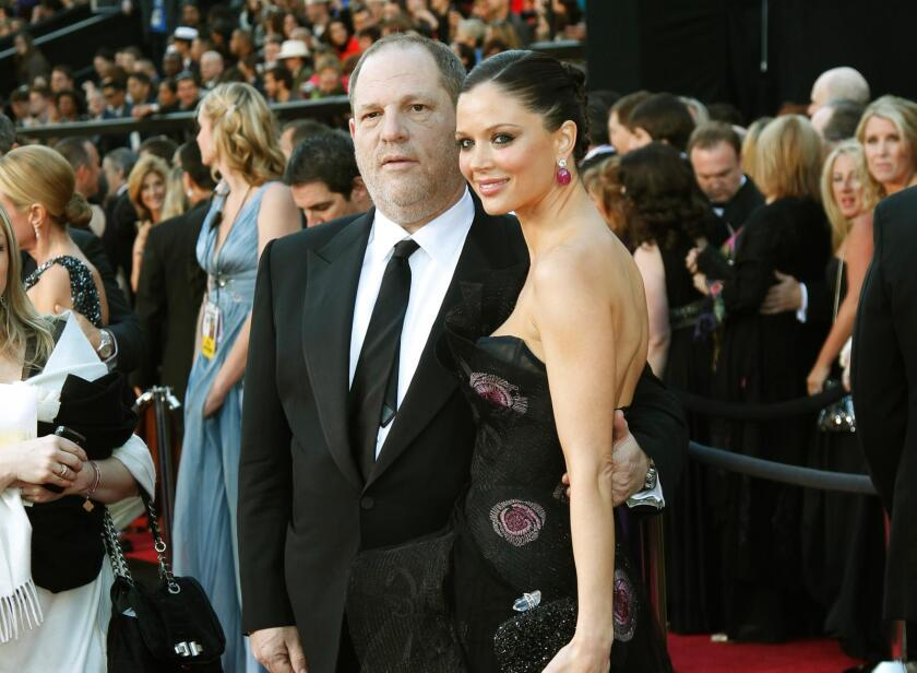 Weinstein Co. co-Chairman Harvey Weinstein is shown with wife Georgina Chapman at the 83rd Academy Awards.