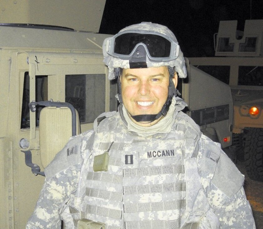 John McCann is four months into his yearlong Navy tour in Iraq.