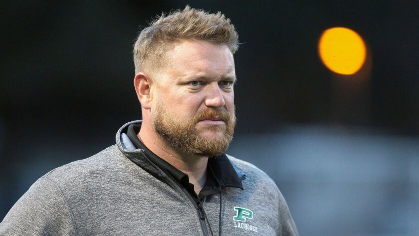 Boys lacrosse coach Zachary Burke has built a powerhouse at Poway with two straight Open Division titles.