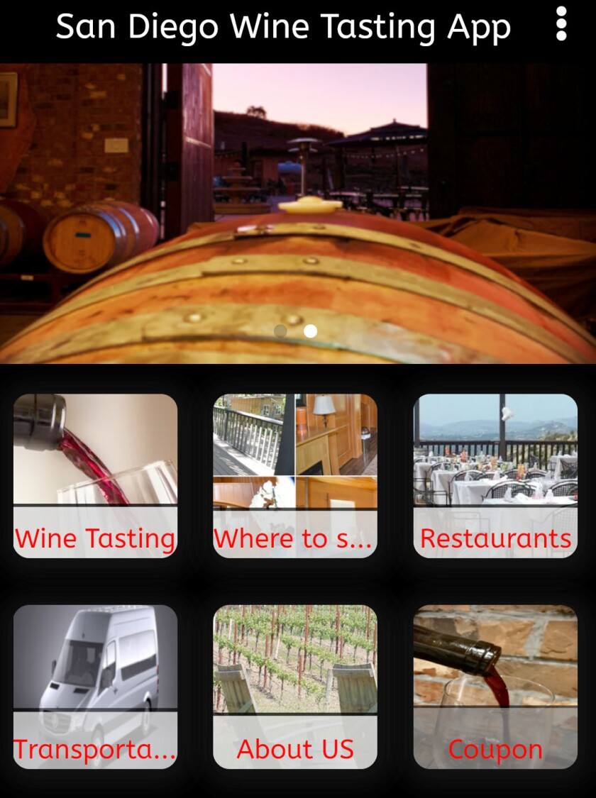 Castelli Family Vineyards has just launched the 'San Diego Wine Tasting App' downloadable from iPhone and Android phones.