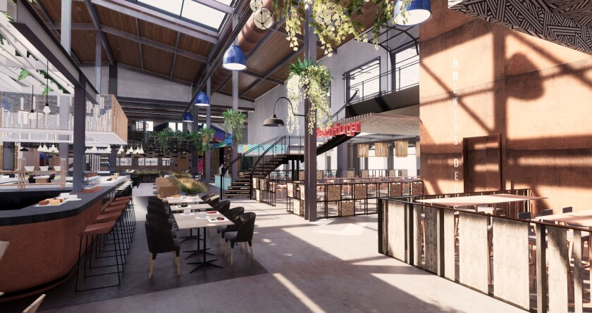 Each restaurant tenant will have its own dedicated space inside the shared space.