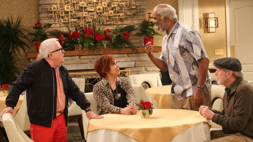 COOL KIDS: L-R: Leslie Jordan, Vicki Lawrence, David Alan Grier and Martin Mull in COOL KIDS on FOX