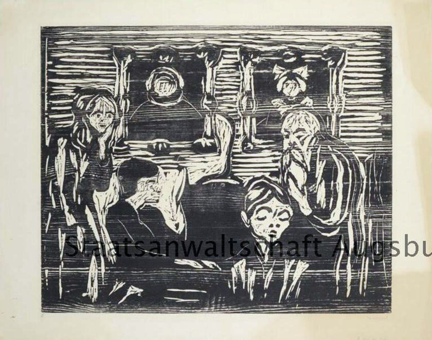 """This photo provided by the Augsburg State Prosecutor's Office shows """"The Son"""" by Edvard Munch. It is among 79 works now shown on the Lost Art website and among the approximately 1,400 works German authorities confiscated from the Munich residence of Cornelius Gurlitt, son of Hildebrand Gurlitt, an art dealer who worked for the Nazis."""