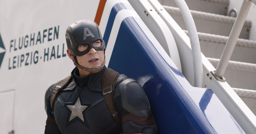 """Chris Evans returns as Steve Rogers/Captain America in the Marvel superhero film """"Captain America: Civil War,"""" which pits the title character against Iron Man."""