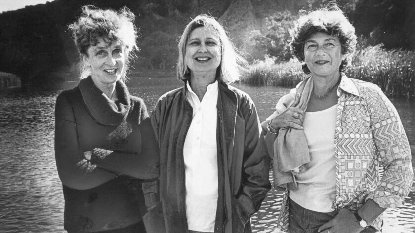 Nov. 16, 1978: From left: Jill Swift, Sue Nelson and Margot Feuer fought to save undeveloped areas o