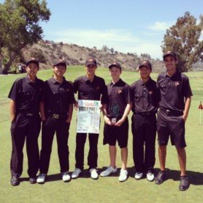 The TPHS Golf Team (l-r): Toby Song, Kyoshiro Azumada, Otto Vanhatalo, Jonah Holty, Kaiwen Liu, Jamie Cheatham. Courtesy photo