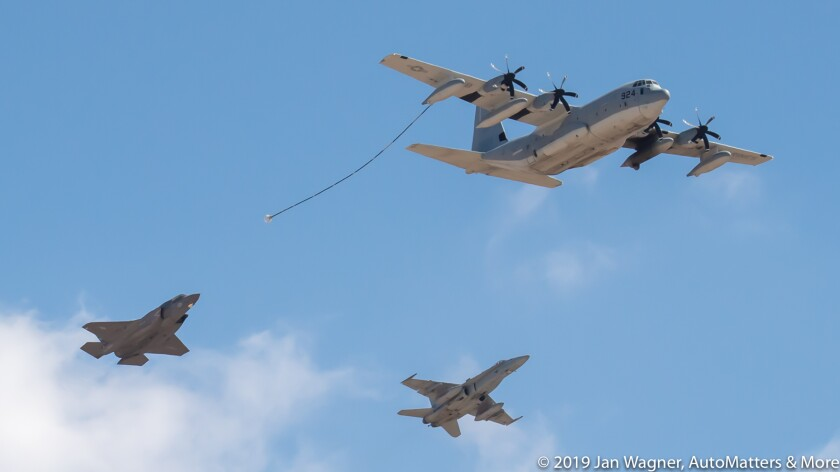 Aerial refueling demonstration