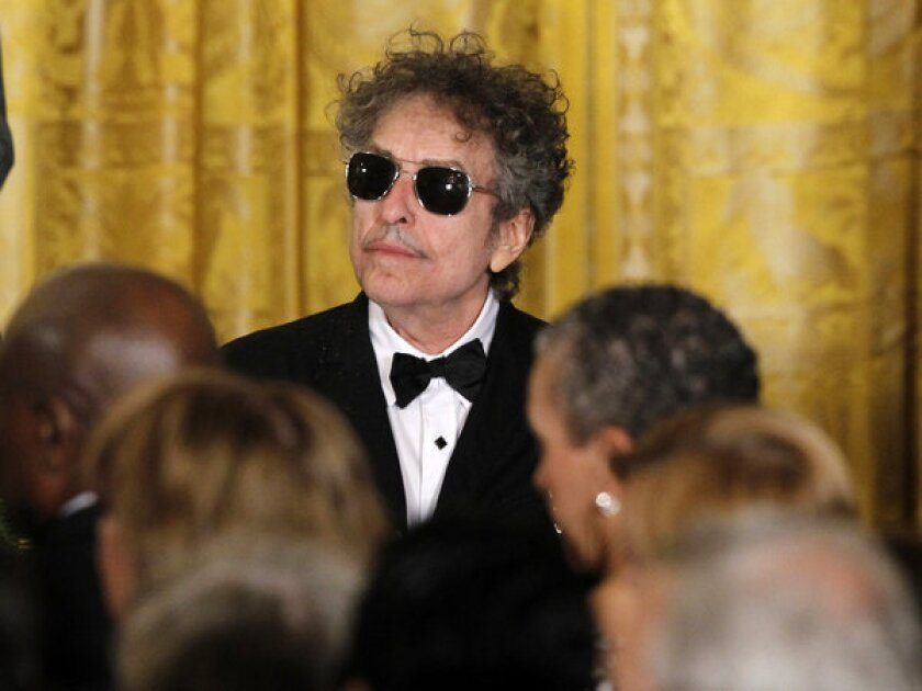 Bob Dylan at the White House in May, where he was among the recipients of the Presidential Medal of Freedom.