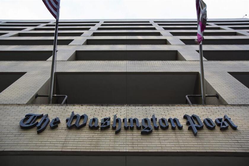 Vista general de la fachada del edificio del The Washington Post hoy en Washington (EE. UU.). EFE/Archivo