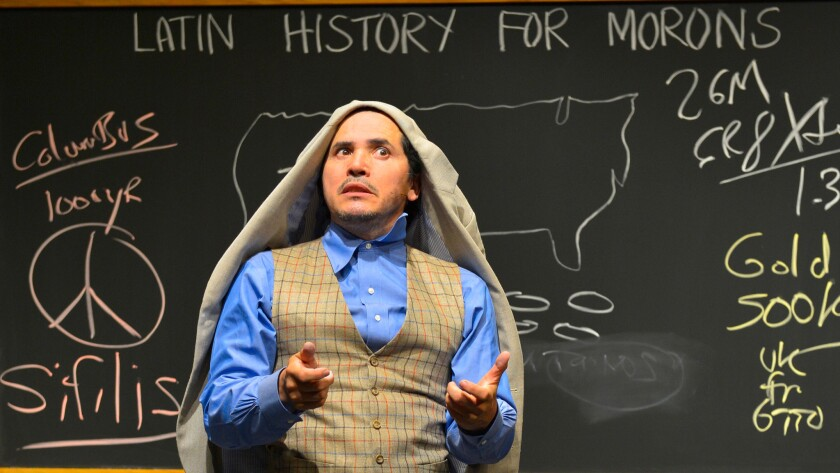 "John Leguizamo offers his remedial class on culture in ""Latin History for Morons,"" which is having its world premiere in Berkeley."