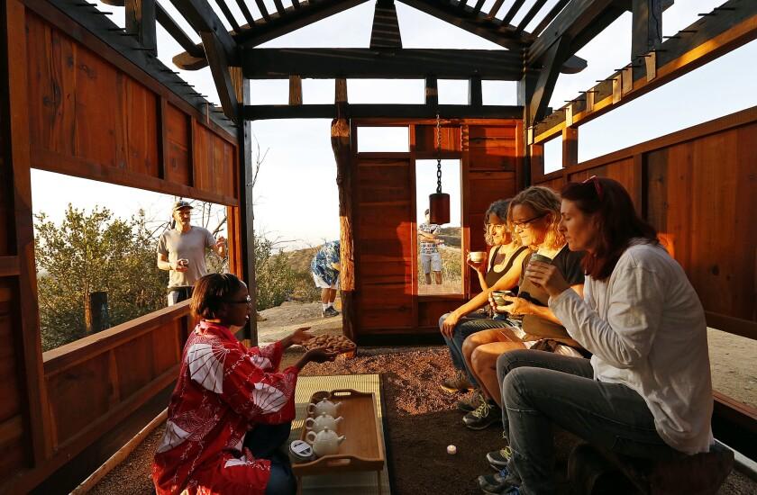 A secret artist-built teahouse in Griffith Park
