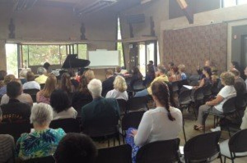 Recital at Founders' Hall in Solana Beach. Courtesy photos