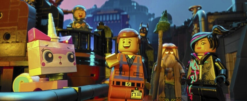 Many moving parts snap into place in 'The Lego Movie'