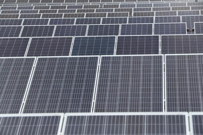 Vista de paneles solares. EFE/Archivo