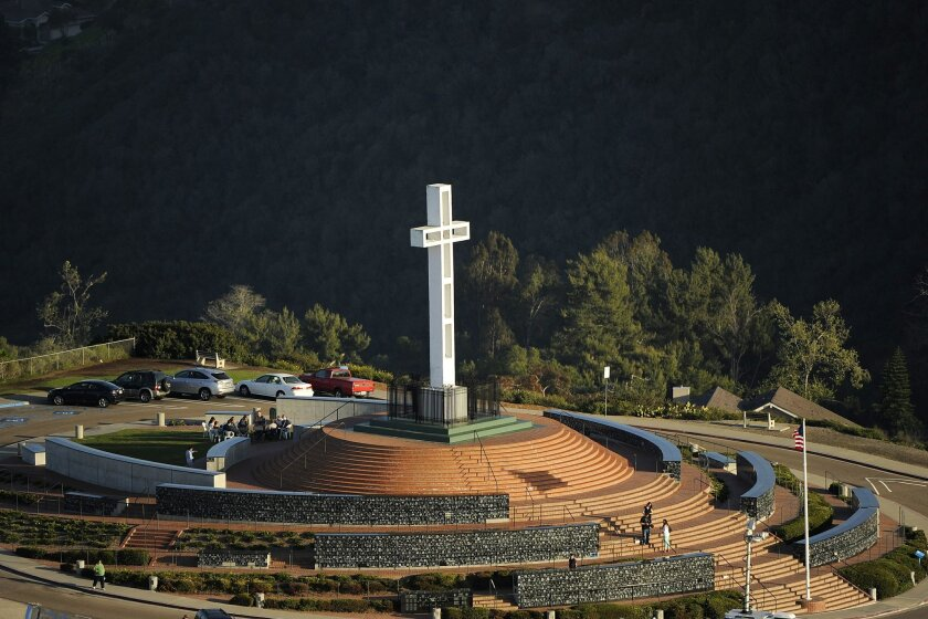 The Mount Soledad Cross in La Jolla.