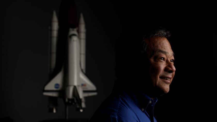 HOUSTON, TEXAS -- SATURDAY, JULY 13, 2019: Leroy Chiao, 58, of Houston, astronaut, at home in Housto