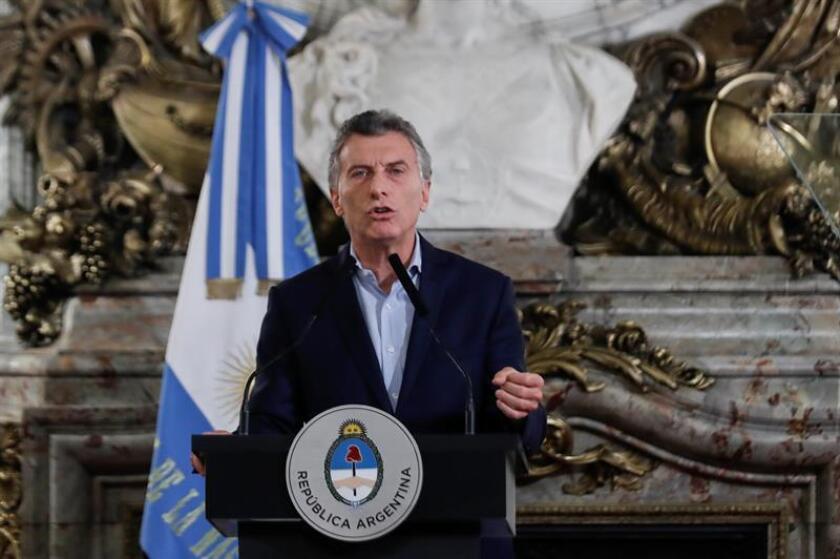 En la imagen, el presidente de Argentina, Mauricio Macri. EFE/Archivo