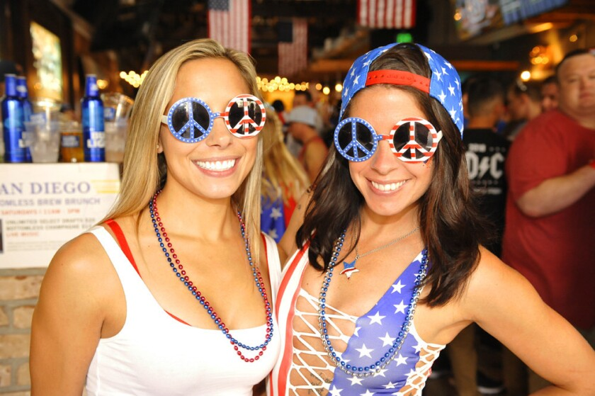 San Diegans will salute 'Merica on Memorial Day Weekend at events like Sing Dance Crawl, where participants sing, dance and crawl their way through downtown San Diego.