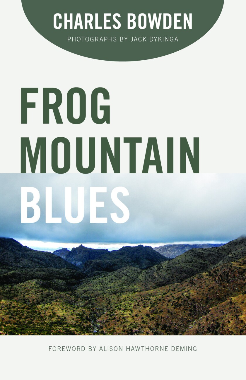 """A book Jacket for Charles Bowden's """"Frog Mountain Blues."""" Credit: University of Arizona Press"""