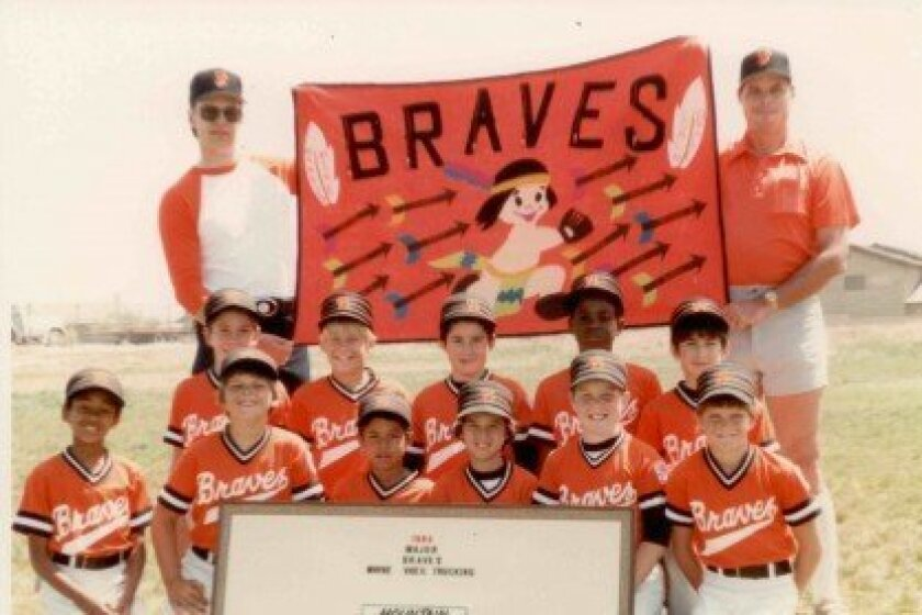 Mike Sweeney (bottom right) in his 1984 Little League team photo