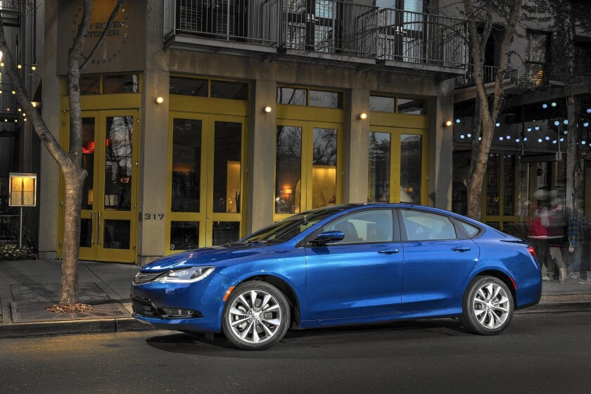 The 2015 Chrysler 200 will parallel park a car with the driver controlling only the gas and brake. Above, the 2015 Chrysler 200S.