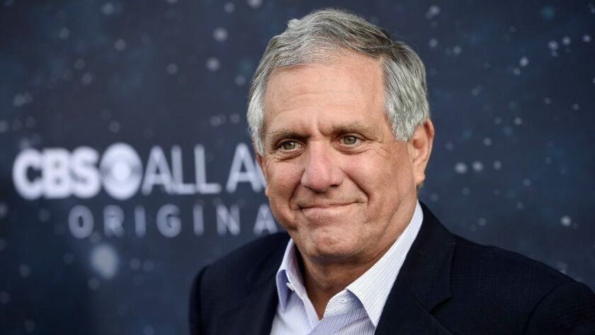 """CBS Chairman and CEO Les Moonves, shown last year at the premiere of the new television series """"Star Trek: Discovery"""" in Los Angeles, resigned Sunday, hours after more sexual harassment allegations involving the network's longtime leader surfaced."""