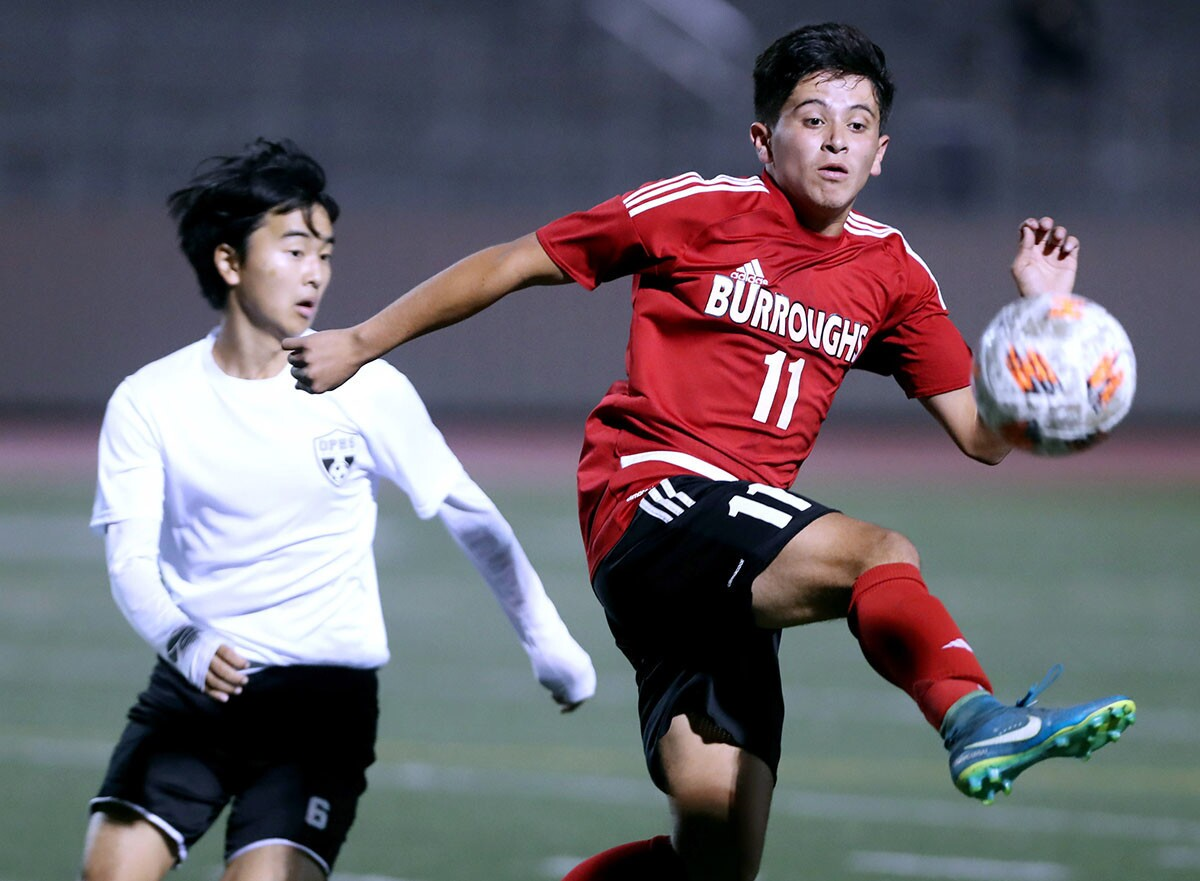 Photo Gallery: Burroughs High soccer vs. Oak Park