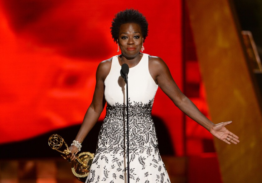 Viola Davis' speech at the Emmy Awards after she won lead actress in a drama series drew criticism from a white actress -- and then counter-criticism and more.