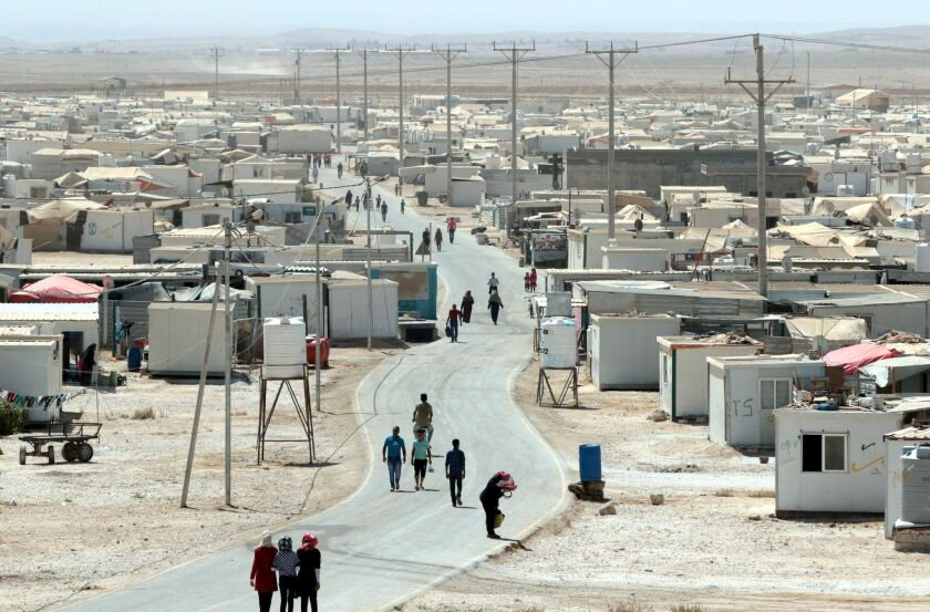 This photo taken Sept. 19, 2015 shows a general view of the massive U.N.-run Zaatari camp for Syrian refugees, located northeast of the Jordanian capital of Amman.