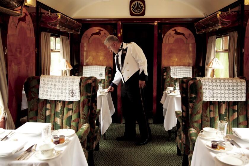 Aboard the Belmond British Pullman.