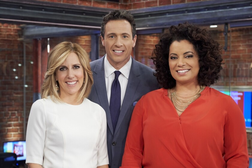 "CNN ""New Day"" co-anchors Alisyn Camerota, Chris Cuomo and Michaela Pereira."