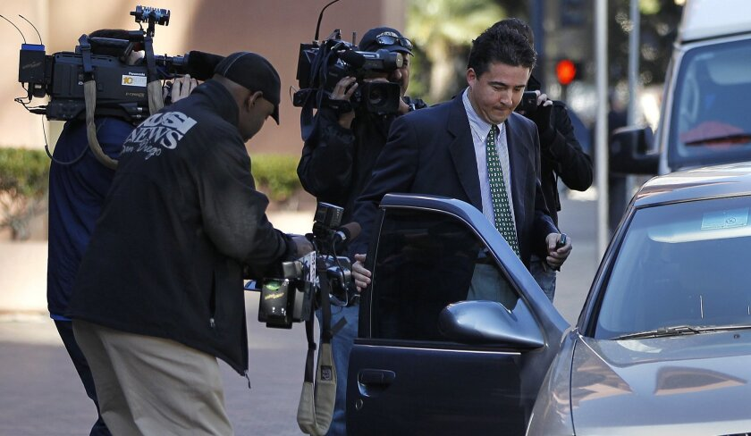 Ralph Inzunza leaves the San Diego federal court in January 2012.