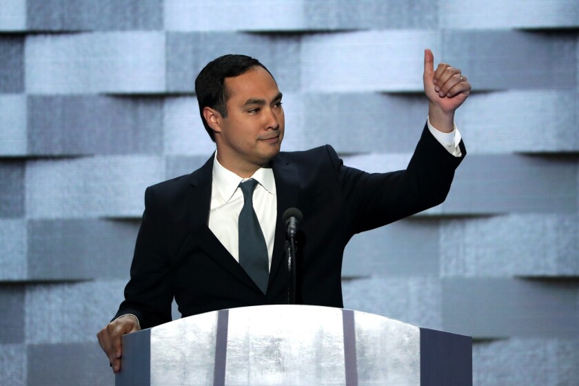Rep. Joaquín Castro takes the stage four years after his brother's profile-raising turn at the DNC