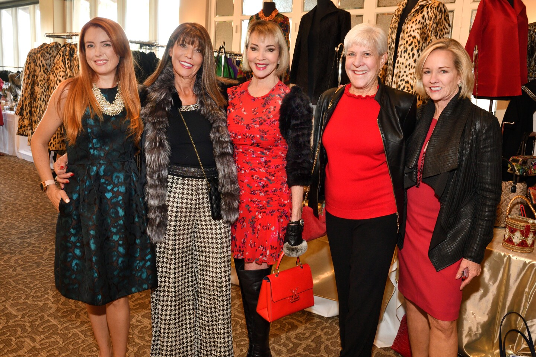 Amber Yoo (will chair CF's 2020 Art of Fashion), Maggie Bobileff, Denise Hug, Deborah Cross (she and husband Les will be honorees at CF's 2020 Art of Fashion), Andrea Naversen