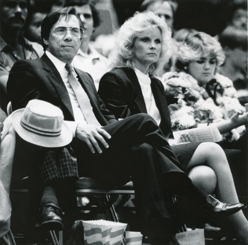The Clippers, and former owner Donald T. Sterling, shown in Jan. 26, 1984, left for Los Angeles 35 years ago.