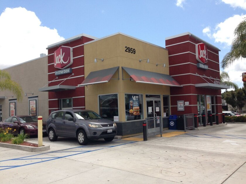 North Park's Jack in the Box, rebuilt in 2013, includes a drive-in window in apparent violation of neighborhood zoning rules, neighborhood critics say.