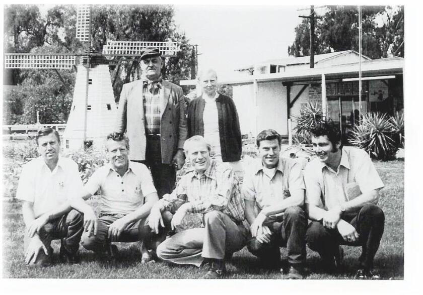 The original de Jong family at Hollandia Dairy in Escondido in this undated photo