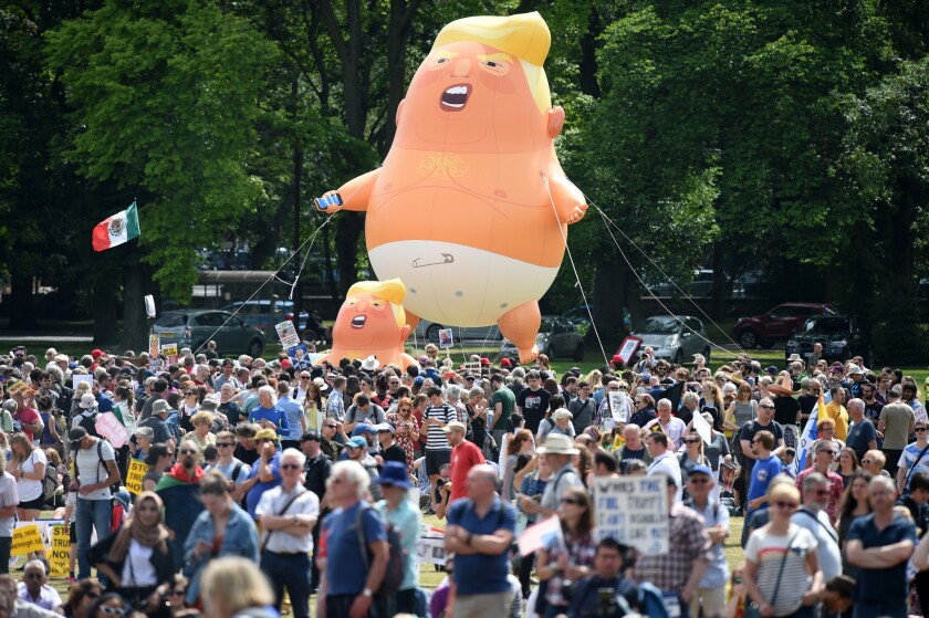 A Baby Trump balloon, similar to his one, will be ready to greet President Trump during a New Jersey weekend visit.