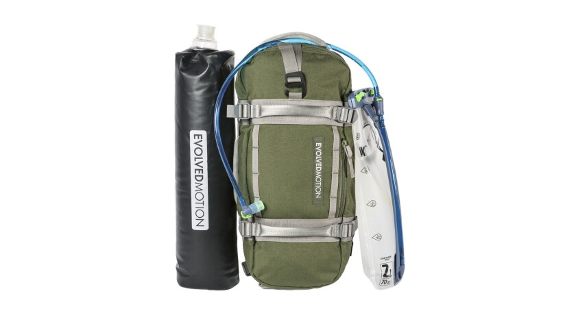 EmPack Nomad by EvolvedMotion - An EmPack Nomad comes with a water reservoir and a hydration reservo