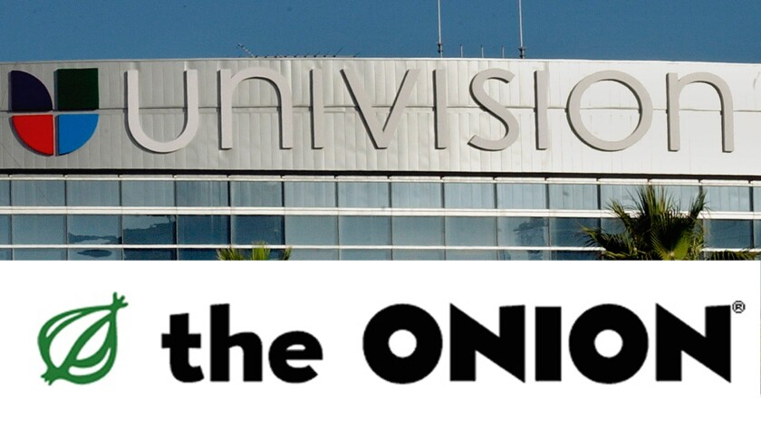 Univision buys a stake in the Onion