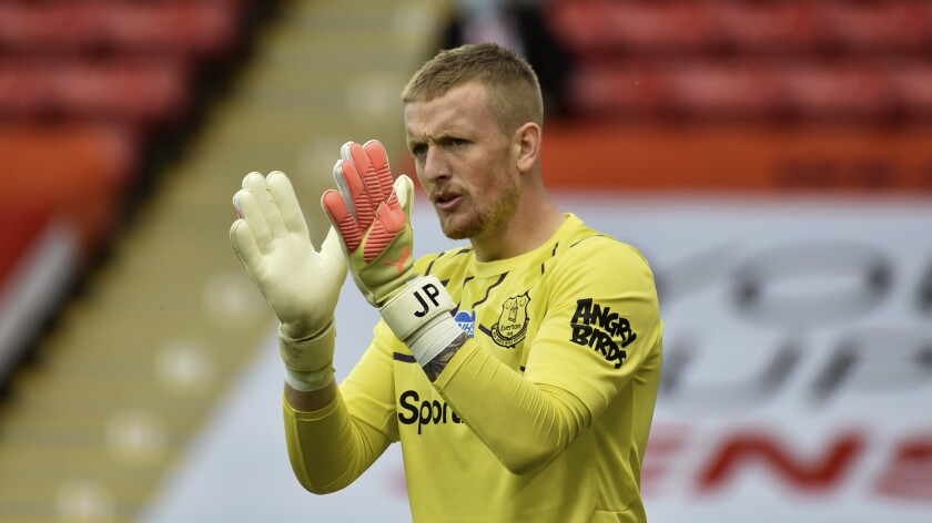 Everton goalkeeper Jordan Pickford will be playing for England against Iceland in the Nations League tournament on Saturday.