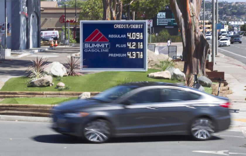 Gasoline prices have spiked in San Diego, surpassing the $4 per gallon mark for regular.