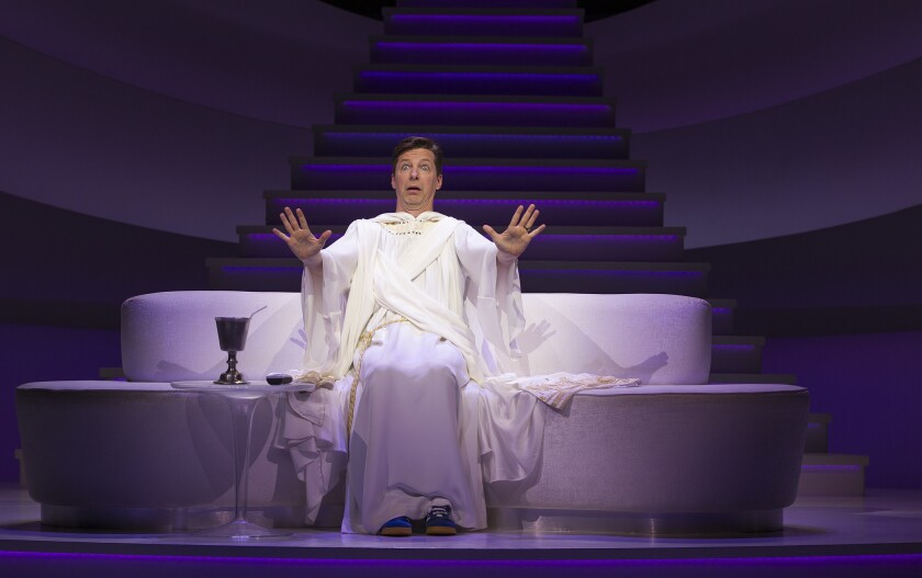 """Sean Hayes stars as the Almighty in """"An Act of God"""" at the Ahmanson Theatre."""