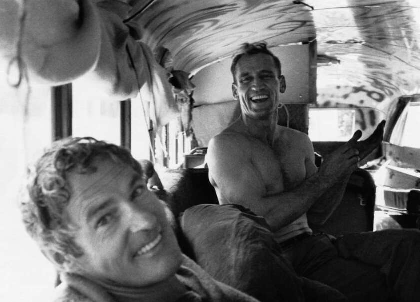 Psychedelic drugs' reputations were forged decades ago by the likes of psychologist Timothy Leary, foreground, and counterculture icon Neal Cassady.
