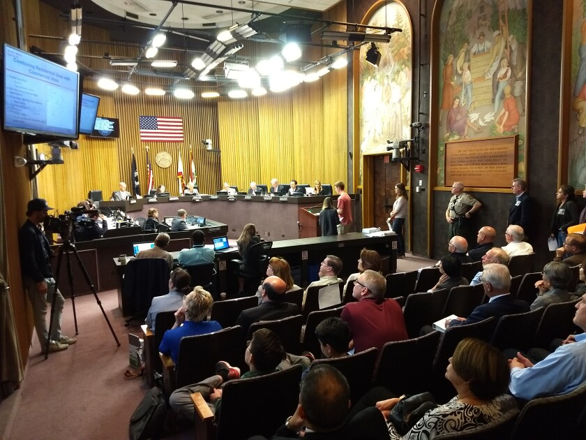 Hundreds of people attended a hearing before the Board of Supervisors Wednesday concerning the Chinese Bible Church of San Diego's request to build a new facility near 4S Ranch