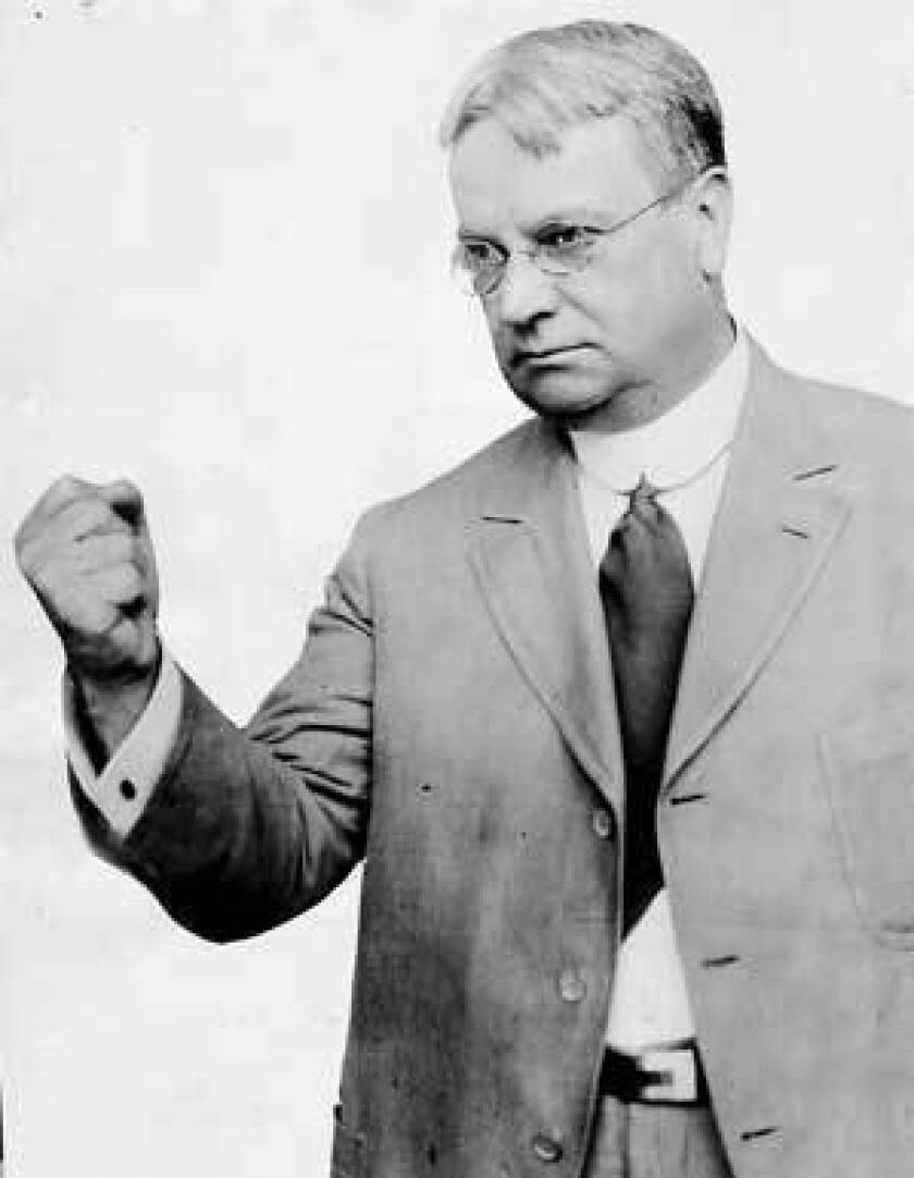 As governor, Hiram Johnson, seen as a U.S. senator in 1919, helped create California's system of direct democracy: the initiative, referendum and recall. Would he shake his fist at it today?