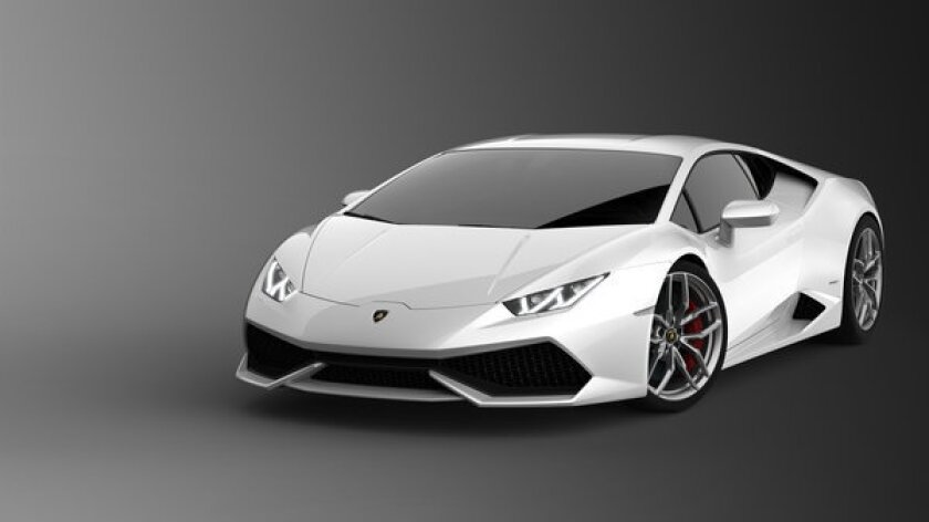 The 2014 Lamborghini Huracan uses a 5.2-liter V-10 engine to pump out 610 horsepower and 413 pound-feet of torque to all four wheels via a new seven-speed, dual-clutch automated manual transmission.
