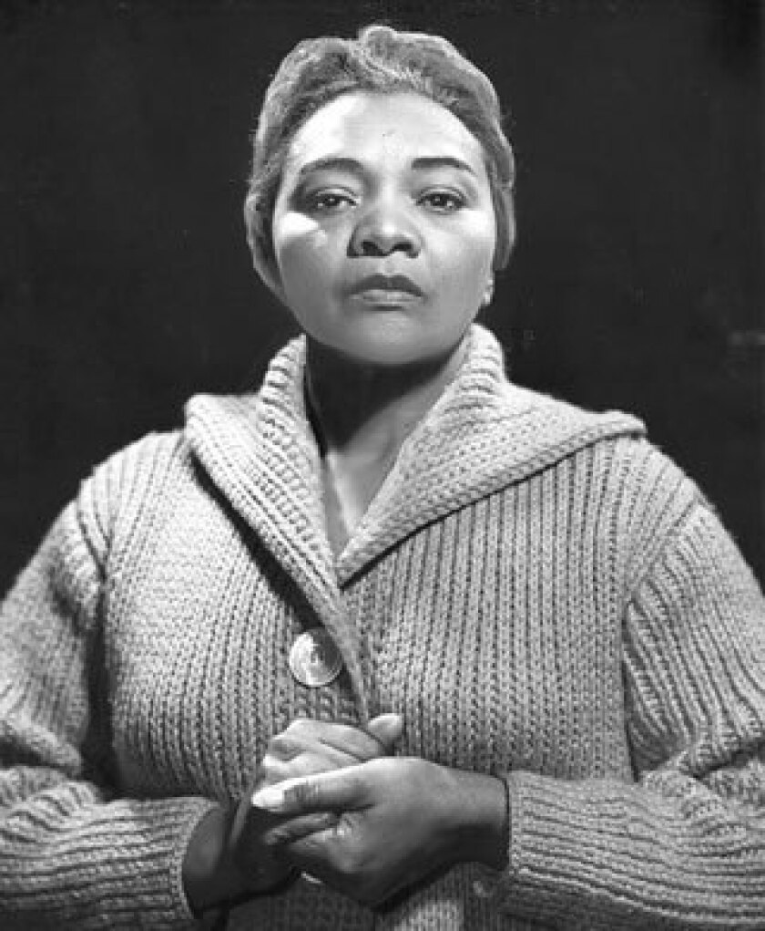 """Actress Juanita Moore plays the role of Momma in """"A Raisin in the Sun"""" in 1961."""