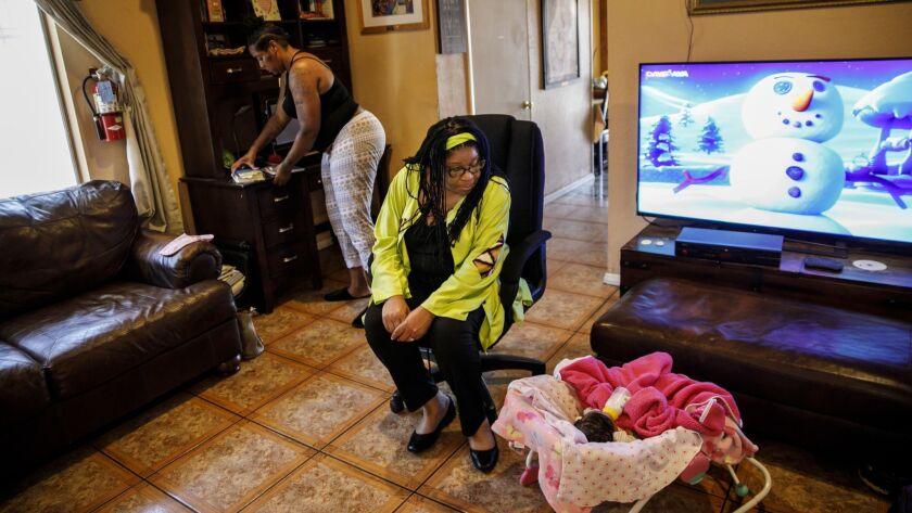 LOS ANGELES, CALIF. -- MONDAY, APRIL 23, 2018: Susan Burton inside one of five south LA homes she op