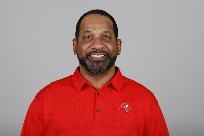 Former USC assistant coach Todd McNair, who currently works as a running backs coach for the Tampa Bay Buccaneers
